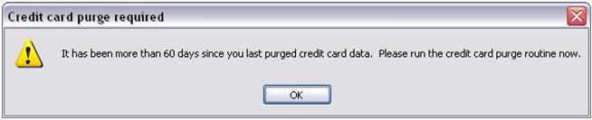 Credit Card Purge in Multchannel Order Manager Keeping M.O.M. PCI Compliant