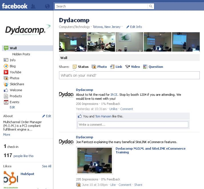 dydacomp Facebook Page Dydacomps Successful Launch on Facebook!